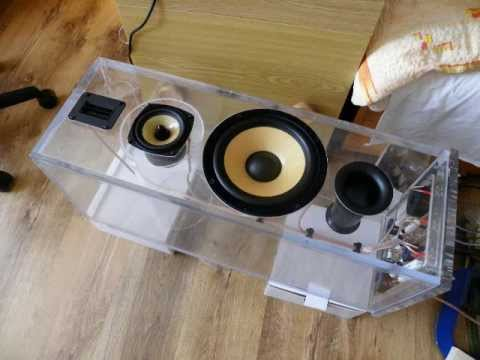 speakers - After few years of saving money it is finally done. 3-way speakers in transparent box. Just watch this video ;-) . Virtual construction was made in Autocad 2...
