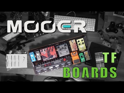 NUOVE PEDALBOARD MOOER TF SERIES