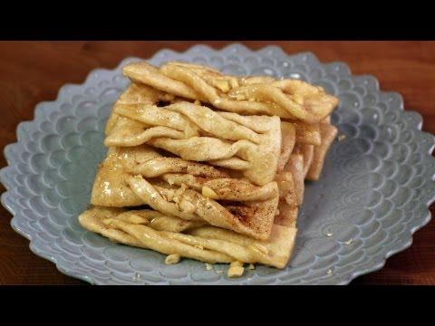 Korean Recipe: How to make Ginger Cookies with Pine Nuts – Maejakgwa – 매작과