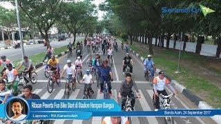 Ribuan Peserta Fun Bike Start di Stadion Harapan Bangsa