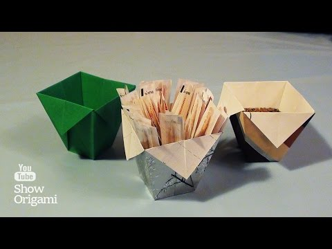 Стакан из оригами