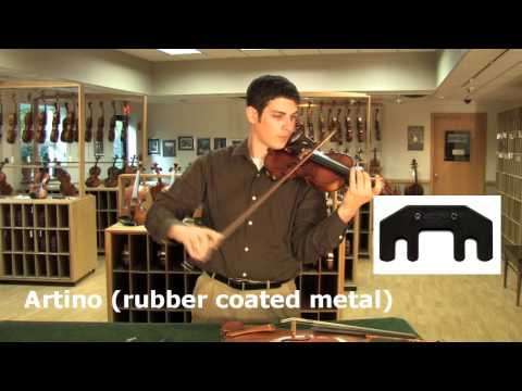 Video - Heavy Practice Mute for Violin or Viola - Metal | 1167