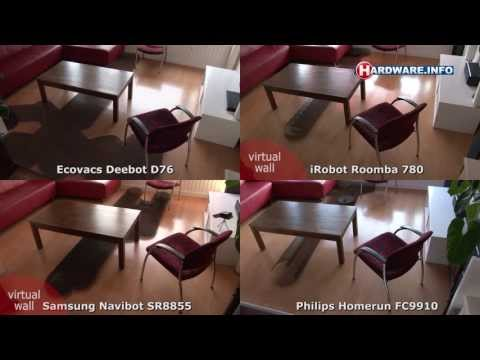 Philips - This video shows the differences in cleaning methods and coverage between de iRobot Roomba 780, Samsung Navibot SR8855, Philips Homerun and Ecovacs Deebot D7...