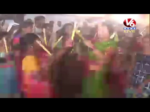 Bathukamma Celebrations At Peddapalli LIVE | V6 News