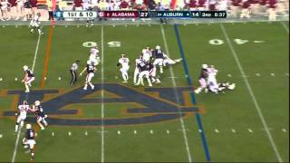 Courtney Upshaw vs Auburn 2011