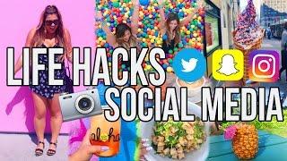 SOCIAL MEDIA LIFE HACKS | Snapchat, Instagram, Twitter & More! by MissRemiAshten