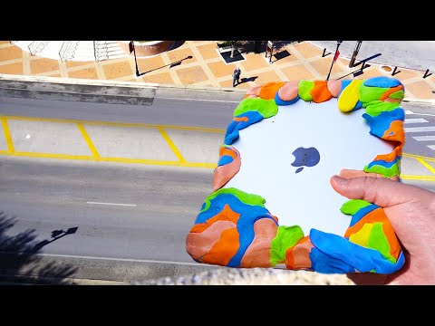 Can Silly Putty Protect iPad Air from Extreme 80 FT Drop Test?