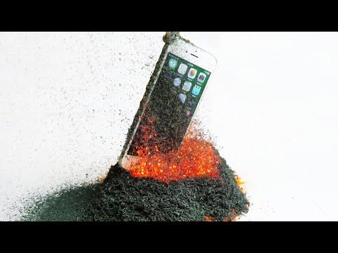 Este video muestra lo que le sucede al iPhone si cae al interior de un volcán