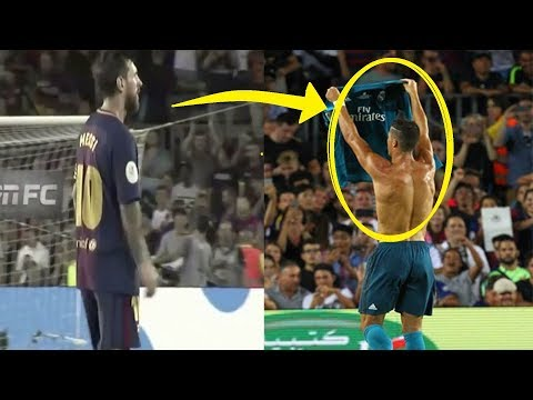 Messi and Barcelona players reaction to Ronaldo's goal | Barcelona vs Real Madrid Spanish Supercup