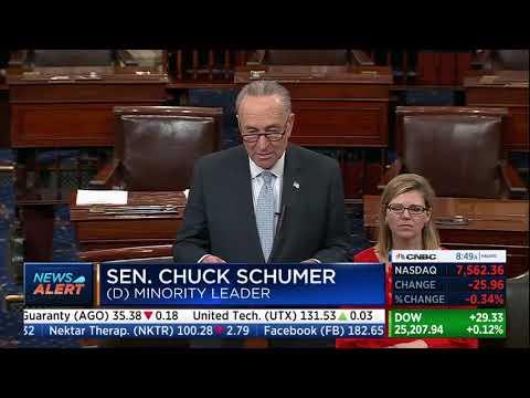 Chuck schumer approves trump block broadcom qualcomm merger