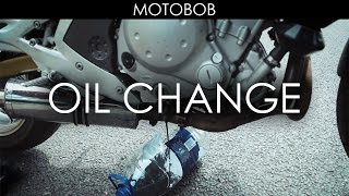 9. How To Change Motorcycle Oil & Oil Filter (Kawasaki ER-6n)