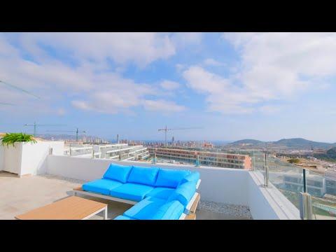 Элитная недвижимость в Испании/Квартира в Бенидорме/Пентхаус с панорамными видами на море и город