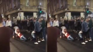 ✅  Yobs clash in street brawl after Anthony Joshua fight as crowd chant's boxer's name