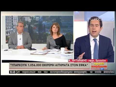 Ν. Μηταράκης: 'Εχει ξεκινήσει η διαδικασία για νέο Ασφαλιστικό | 30/10/2019 | ΕΡΤ