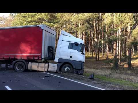 Wideo1: Wypadek na trasie Długie Stare - Dębowa Lęka