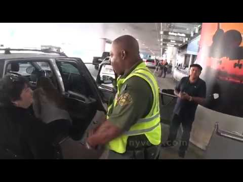 LAX security officer helps save a baby lock in a car for over 40 min at LAX