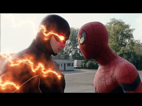 Spider-man: Homecoming  Spider-man vs The Flash FIGHT SCENE | Marvel vs DC 2017 Civil War (видео)