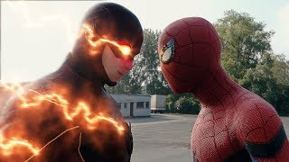 Video Spider-man: Homecoming Spider-Man vs The Flash FIGHT SCENE | Marvel vs DC 2017 MP3, 3GP, MP4, WEBM, AVI, FLV Mei 2017