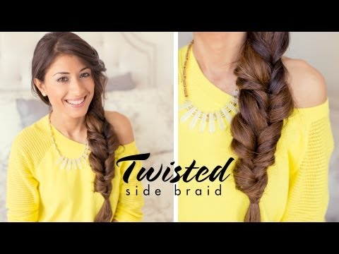 luxy hair - This Twisted Side Braid is a great everyday hairstyle.For this hairstyle I used Luxy Hair Extensions : http://www.luxyhair.com to add thickness and length to...