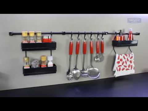 Assembly Instruction Multipurpose Kitchen Utensil Organizer Holder, Spice Rack, Towel Rack