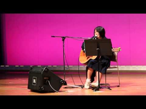 芳井中学校 文化祭2014 yu-na 3年生 三宅優菜さん アコギライブ