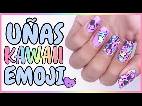 Videos de uñas - ¡QUE DISEÑOS MÁS LINDOS! · Uñas KAWAII EMOJI