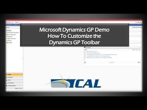 Dynamics GP Tip: How to Customize the Microsoft Dynamics GP Toolbar