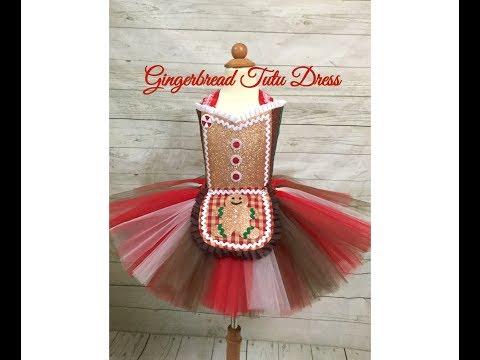 Gingerbread Tutu Dress Tutorial | Gingerbread Dress DIY