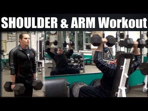 Bodybuilding SHOULDER & ARM Workout Video