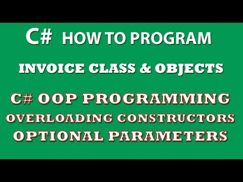 C# Programming Challenge: Invoice Class With C# Overloaded Constructors and Optional Parameters