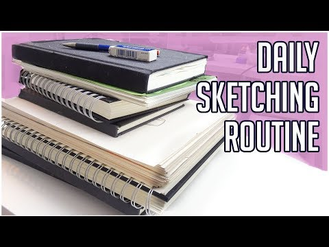 My Daily Sketching Routine 【Ideas & Tips For Beginners】