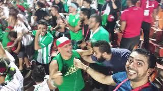 رد فعل الجماهير الجزائرية قبل وبعد هدف