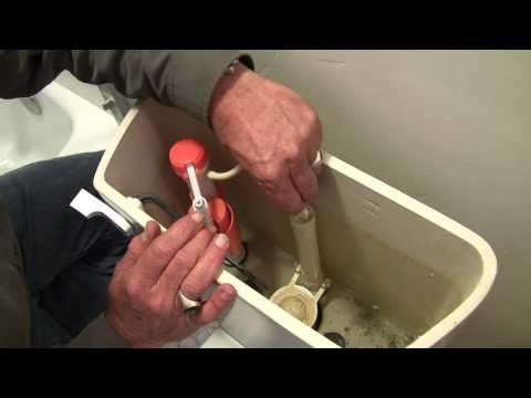 How to Repair a Moaning Toilet - ballcock valve replacement