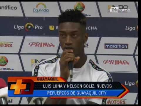 Luis Luna y Nelson Solíz, nuevos refuerzos de Guayaquil City