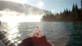 Day 7 on John's Columbia river trip 2016 paddling from Golden to Revelstoke BC. This day started with dense fog just below MICA dam and above the Blue Bridge...