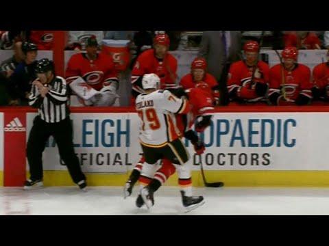 Video: Flames' Hamilton scores after Ferland drops Aho