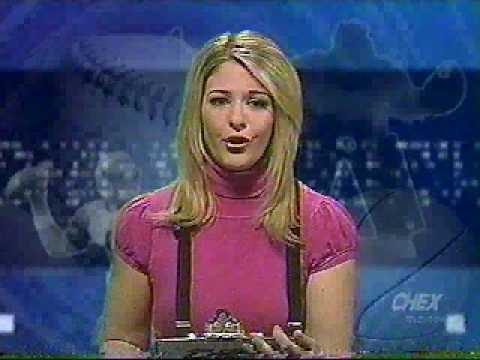 MELISSA LAMB SPORTSCAST BLOOPER CHEX TV PETERBOROUGH ONTARIO