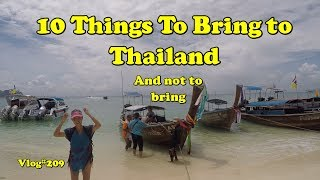 Video 10 things to bring and not bring to Thailand MP3, 3GP, MP4, WEBM, AVI, FLV Juli 2018