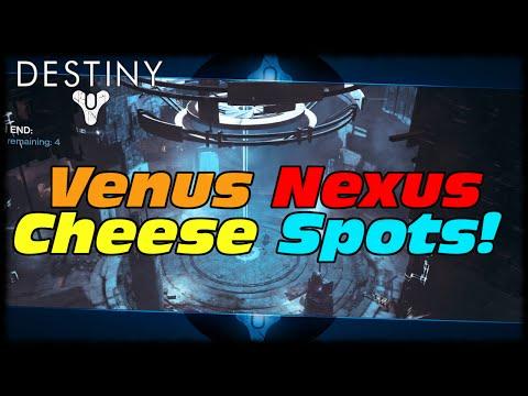 Strike - Destiny Venus Nexus Strike Glitch & Cheese Spots! How To Solo Venus Nexus Strike & Sekrion In Destiny! Click Here To Learn More About CyberPowerPC! http://www.cyberpowerpc.com Follow Me!