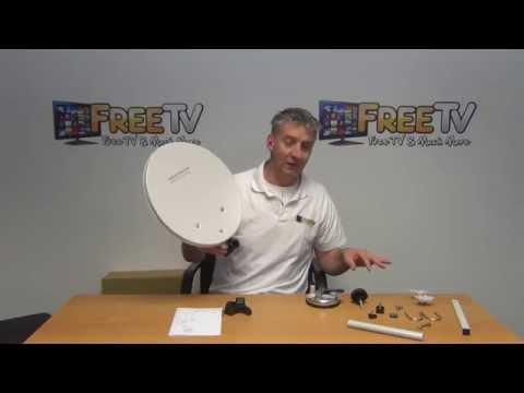 SAB Portable Camping Satellite Dish Kit