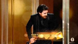 Video Christian Bale winning Best Supporting Actor MP3, 3GP, MP4, WEBM, AVI, FLV April 2018