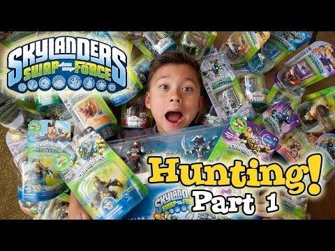 "Skylanders SWAP FORCE HUNTING – PART 1 (Wave 1) – Toys ""R"" Us, Walmart, Target & Gamestop Shopping!"