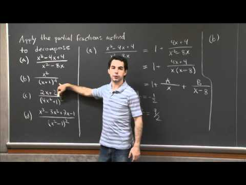 Partial Fractions Decomposition | MIT 18.01SC Single Variable Calculus, Fall 2010
