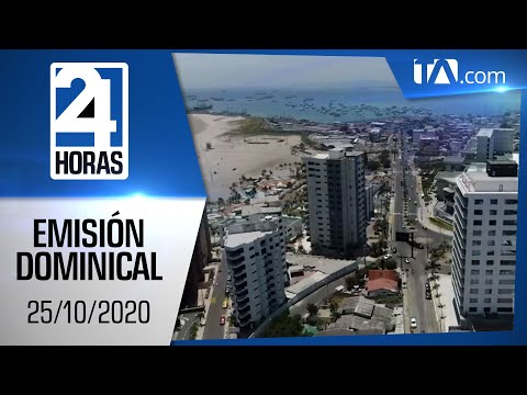 Noticias Ecuador: Noticiero 24 Horas, 25/10/2020 (Emisión Dominical)
