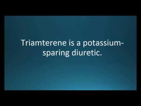 How to pronounce triamterene (Dyrenium) (Memorizing Pharmacology Video Flashcard)