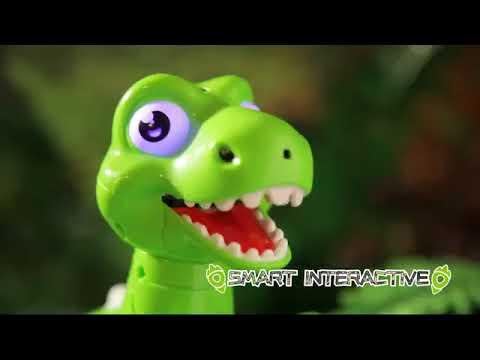 Радиоуправляемый динозавр Jungle Overlord со звуком, светом и паром (зеленый)