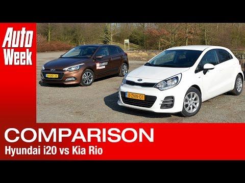 Dubbeltest – Hyundai i20 vs Kia Rio