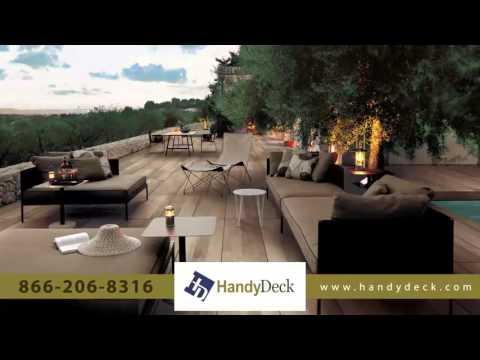 HandyDeck deck tiles and porcelain pavers for stunning decks & patios