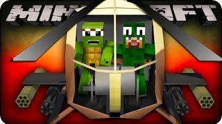 Minecraft Helicopter War - SHOOT EM DOWN! (Modded Mini-Game)