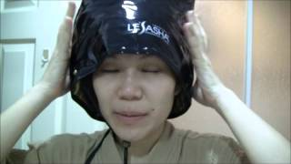 นึ่งถั่วงอก ด้วย Lesasha Nano Hair Spa Professional Treatment Cap